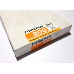 "Plan film 200 ISO 4x5"" / 50 pf"