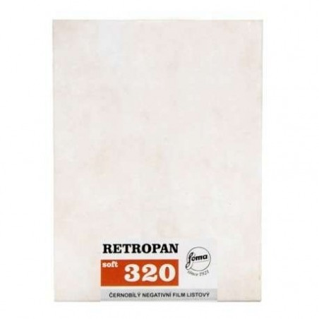 "Retropan 320 Plan film 8x10"" / 50 films"